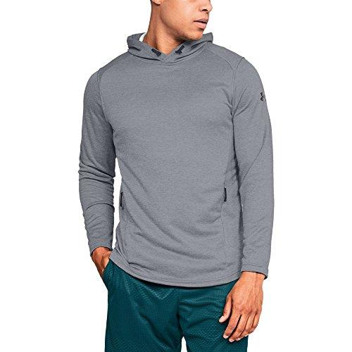 Terry Sweatshirt Hooded - Under Armour Men's MK-1 Terry Hoodie, Steel (035)/Black, X-Large