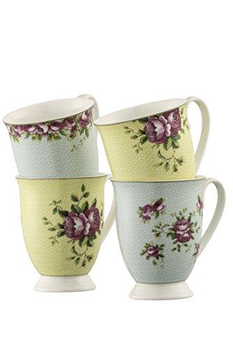 Aynsley Archive Rose 4 Mugs Set Aynsley English Bone China