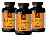 Sleeping aid All Natural - L-THEANINE 200MG - Dietary Supplement - Nitric Oxide activator - 3 Bottles (180 Capsules)