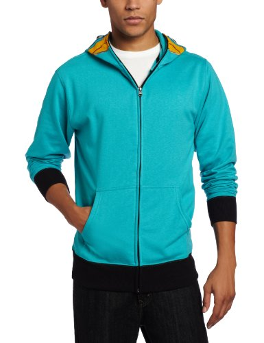 Phineas & Ferb Men's I am P Fleece Hoodie, Turquoise, Small
