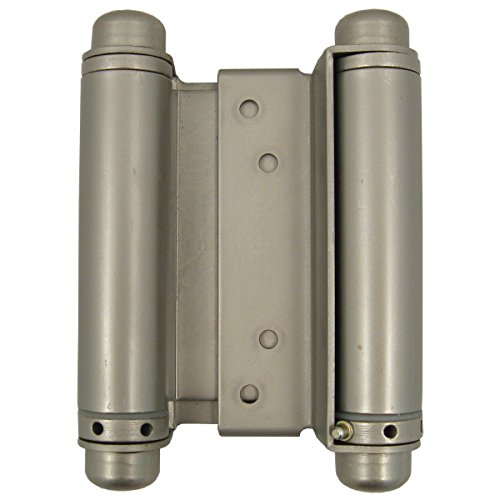 Double Acting Spring Hinge - Stone Harbor Hardware, Heavy Duty Double Acting Spring Hinge (4-inch, Satin Nickel)