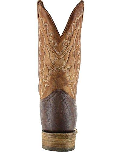 Stivali Da Cowboy In Pelle Marrone Scuro Corral Mens, Marrone Chiaro