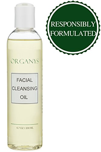 Organys Gentle Facial Cleansing Oil & Makeup Remover Best Natural Face Wash Cleanser Reduces Pores Acne Blackheads Breakouts Anti Wrinkle & Aging For Sensitive Oily Dry Combination Skin With Vitamin E