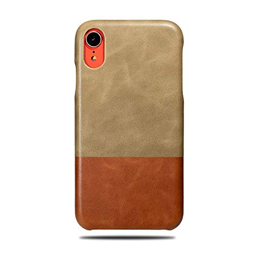 - Kulör Cases iPhone XR Leather Case (Sage Green & Walnut Brown), Handmade Premium Slim Fit Protective Cover Snap on Case for iPhone XR
