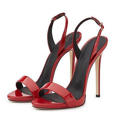 LvYuan Mujer Sandalias Cuero Patentado Primavera Verano Hebilla Tacón Stiletto Dorado Negro Beige Rojo Champaña 10 - 12 cms Gold