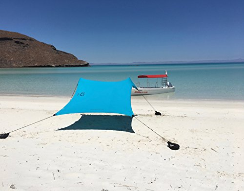 Neso Tents Beach Tent with Sand Anchor, Portable Canopy Sunshade - 7' x 7' -...