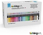 KingArt 580-24 Studio Mixed Media Gel Stick Set, Set of 24, Unique Colors 24 Piece