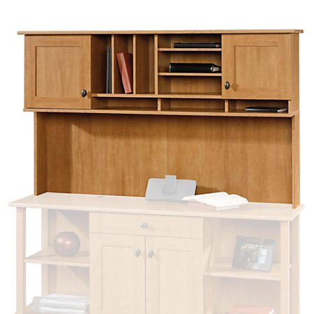 Sauder Maple Desk - Sauder 410445 Dawson Computer Credenza Hutch, Canyon Maple Finish