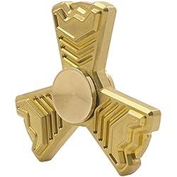 Gold Brass Aventador Fidget Spinner - 4-6 Min Spins, R188 Steel Bearings, 95 Grams. Lamborghini Inspired. Metal Hand Finger Spinners