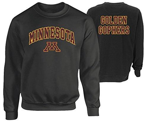 Minnesota Golden Gophers Crewneck Sweatshirt Heather Gray - XL - Charcoal