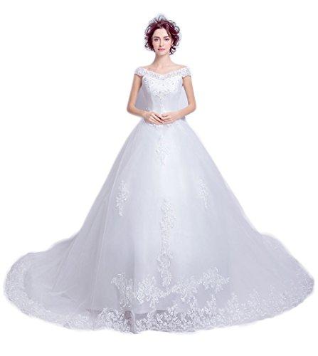血統引退した評価可能ウェディングドレス 花嫁 ロングドレス Aライン 結婚式 二次会 パーティー披露宴 ウエディングドレス