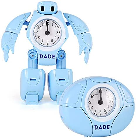 7777777 Toy Boy niño de la Alarma del Reloj del Robot Robot Tabla deformación Creativa de los Relojes de Dibujos Animados Reloj de Escritorio para los Estudiantes Regalo del Muchacho,Azul: Amazon.es: Hogar