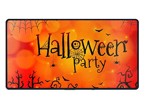 Halloween Paty Show Large Gaming Mouse Pad Mat, Washable Material Extended XXL Size Office Mousepad Mat, Non-Slip Rubber Base Edge Stitched