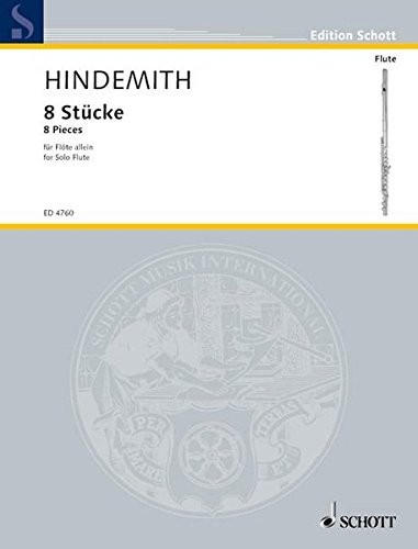 8 Stücke: Flöte. (Edition Schott)