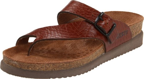 Mephisto Womens Helen Leather Sandals Desert