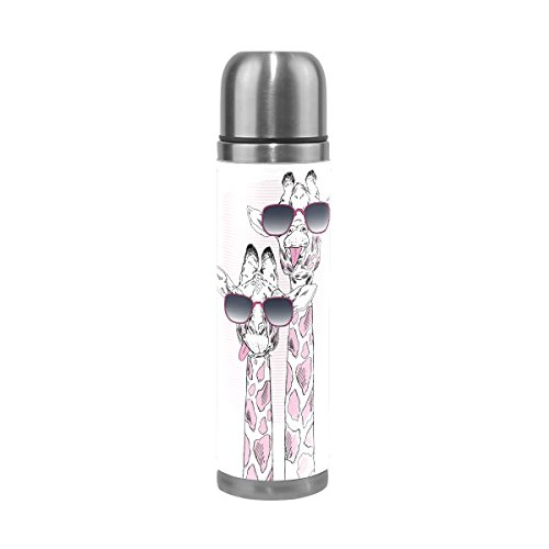 ALAZA Giraffe with Glasses Double Wall Vacuum Insulated Stai