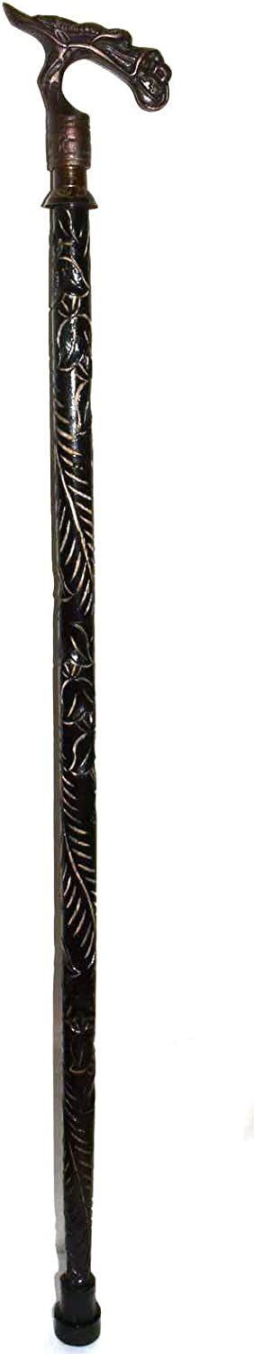 """dragon walking stick crutch 20 cmaged handle 100/% brass old style 8""""long heavy B"""