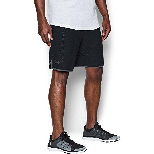 Under Armour Men's Qualifier Printed Shorts, Black/Graphite, Large