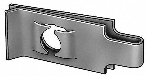 #8-32 U Style Spring Nut, Black Phosphate, Steel, PK50 by GRAINGER APPROVED