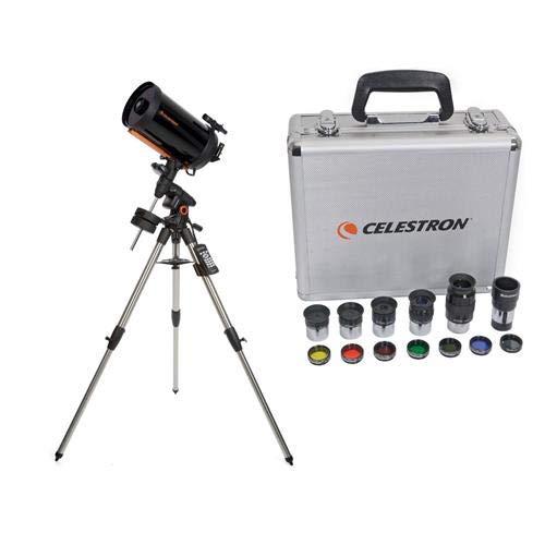 Celestron Advanced VX 9.25'' Schmidt-Cassegrain Telescope - with Deluxe Accessory Kit (5 Plossl Eyepieces, 1.25'' Barlow Lens, 1.25'' Filter Set, Accessory Carry Case by Celestron