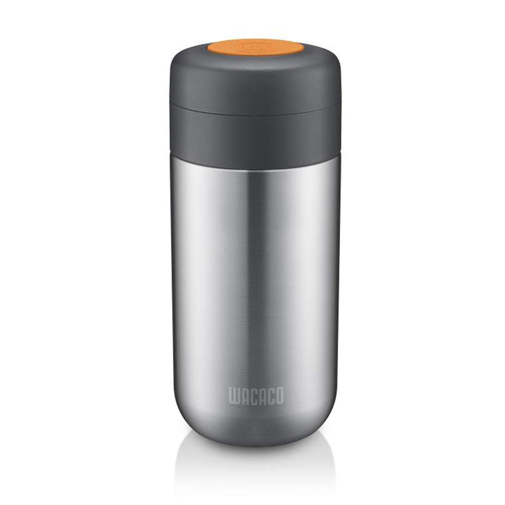 Wacaco Nanovessel, 3-in-1 Vacuum Insulated Flask, Compatible with Nanopresso -304 Stainless Steel- Tumbler, Tea Infuser and Water Tank, Travel Coffee Bottle, Camping Espresso Accessory, 7 oz Capacity