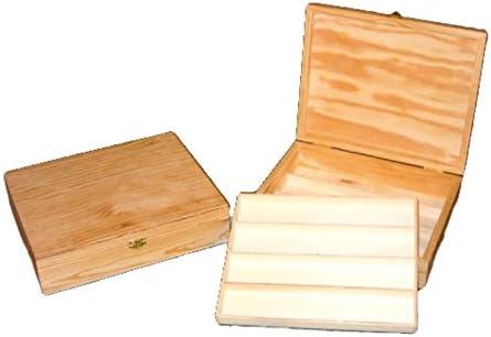 Caja madera. Con departamentos, ideal para colecciones de relojes. En crudo, para decorar. Medidas (ancho*fondo*alto): 26 * 22 * 6,5 cm.: Amazon.es: Hogar