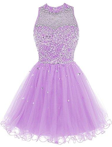 Damen Gowns Heimkehr Luxury for Lavender Beaded 2016 Juniors Abendkleider Fanciest Kleider Kurz dOXvqd1W
