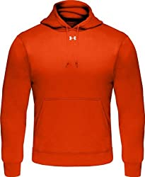 Under Armour Men's Armour Fleece Team, Dark Orangewhite, X-large