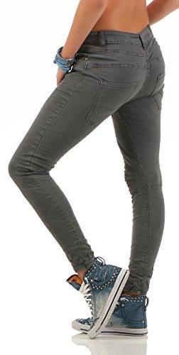 Lexxury by ZARMEXX Señoras novios holgados pantalones vaqueros del estiramiento destruidas se ven varios modelos gris L1808-5