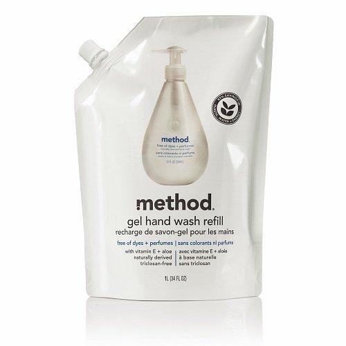 method Gel Hand Wash Refill, Free of Dyes + Perfumes 34 fl oz (1 l) ()