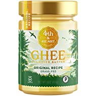 Original Grass-Fed Ghee by 4th & Heart, 16 Ounce, Pasture Raised, Non-GMO, Lactose Free, Certified Paleo, Keto-Friendly