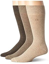 Calvin Klein Men's Combed Cotton Flat Knit Socks