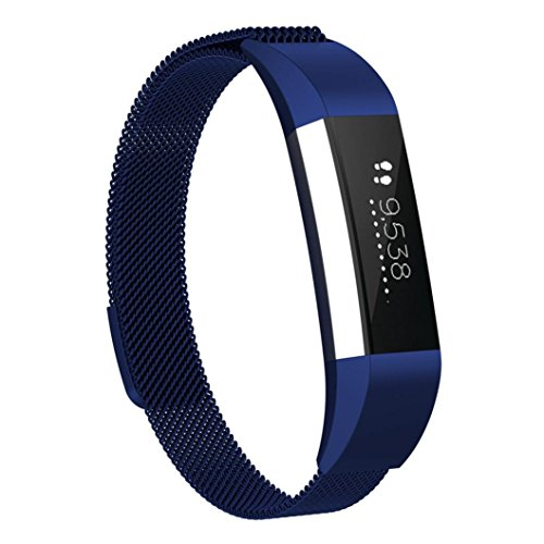 for Fitbit ACE Watch Band, Fullfun Stainless Steel Smart Watchband - Milanese Magnetic Loop Straps - (6.5-9.9inches) (B) by Fullfun (Image #3)
