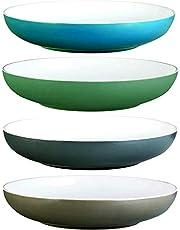 "All Purpose Bowls 9.5""X1.88"" Microwave & Dishwasher Safe, Rice Bowl, Pasta Bowl, Serving Bowl, Salad Bowl, Cereal Bowl"