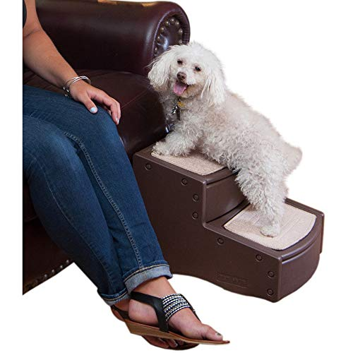 Pet Gear Easy Step II Pet Stairs, 2 Step for Cats/Dogs up to 75-pounds, Portable, Removable Washable Carpet Tread (Pet Stairs Dog Ramp)