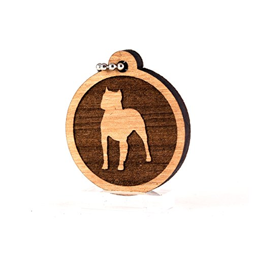 Pitbull for AKC Dog Pet American Kennel Club Wood Laser Cut Keychain Charm Ornament - American Pit Bull Kennels
