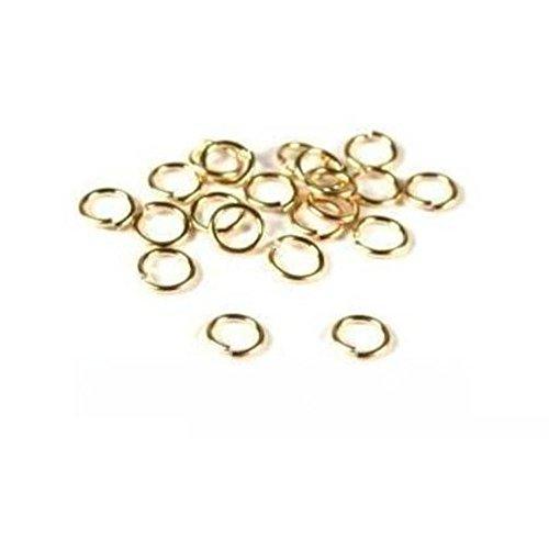 - 20 14K Gold Filled Jump Rings Open Jewelry 22 Gauge 5mm