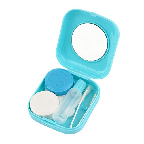 ouying1418 Plastic Mini Contact Lens Case Outdoor Travel Contact Lens Holder Container
