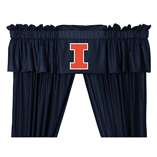 Sports Coverage University of Illinois Curtains Window Valance and Drapes Set (84 Inch Set)