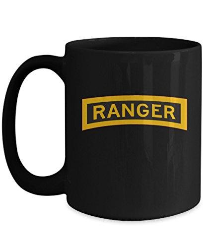 Army Ranger Coffee Mug - Ranger Tab - Black/White/11oz/15oz ()