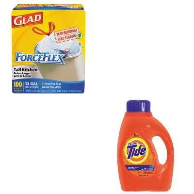 KITCOX70427PAG13878CT - Value Kit - Procter amp; Gamble Professional Ultra Liquid Tide Laundry Detergent (PAG13878CT) and Glad ForceFlex Tall-Kitchen Drawstring Bags (COX70427)