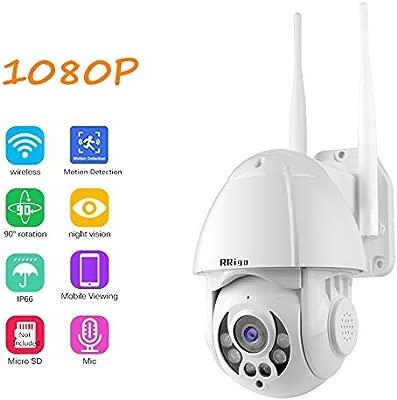 Cámara IP Exterior Cámara de Vigilancia wifi, IP66 Impermeable Seguridad Inalámbrica Cámara HD 1080P /Audio Bidireccional/Detección de Movimiento, ...