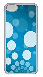 Background Minimal blue white Custom iPhone 5C Case Cover Polycarbonate Transparent by lolosakes