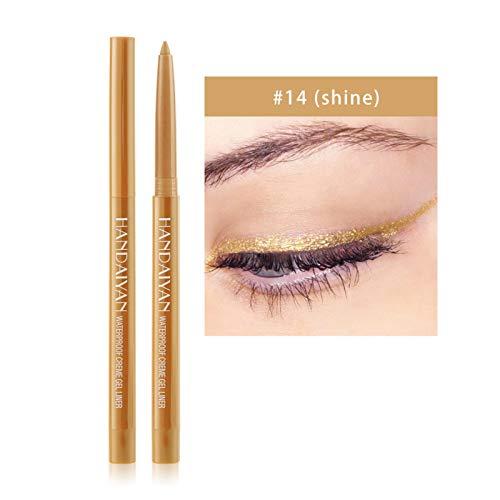 Liquid Shiny Smoky Glitter Liner Makeup Pen-Eyeliner for Beginners Quick-Drying Waterproof Sweatproof and Long-Lasting Eyeliner (1PC-N)