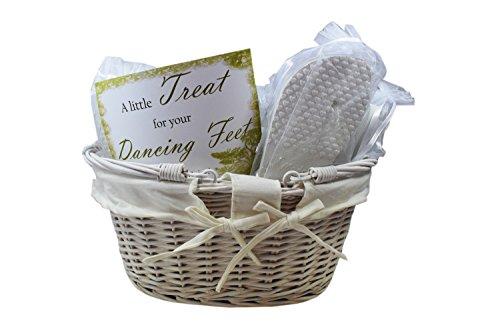 Wedding Party White Flip Flop Guest Cute Basket