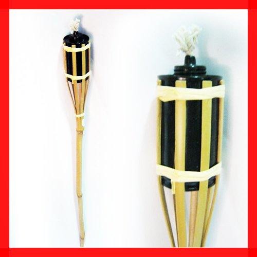 4 Bamboo Torch Tiki Tropical Decor Luau Party Garden Light