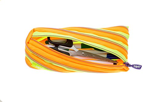ZIPIT Twister Pencil Case, Lime and Orange Photo #5