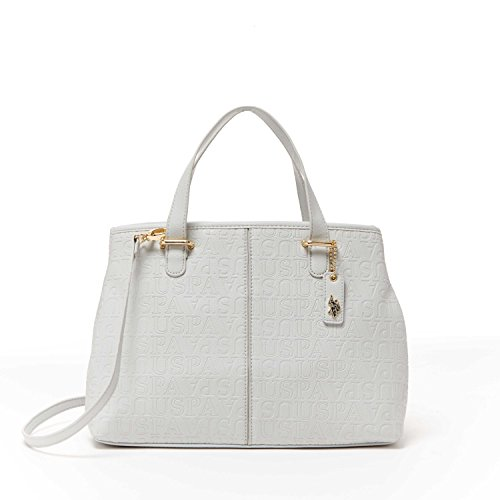us-polo-assn-designer-handbags-womens-heather-embossed-carryall-bag-grey-multiple-color-available