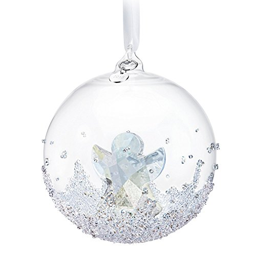 Swarovski Ornament 2015 (Multi-Variation) Annual Edition Christmas Snowflake Crystal Star, Xmas Ball, Angel, Xmas Bell (Large Ball) ()