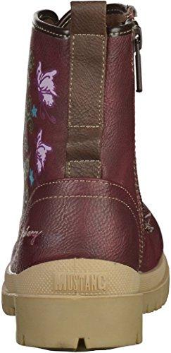 Mustang Mädchen Schnür-Booty Bordeaux Rot (55 Bordeaux)